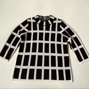 Preston & York Long Sleeve Black & White Sweater L
